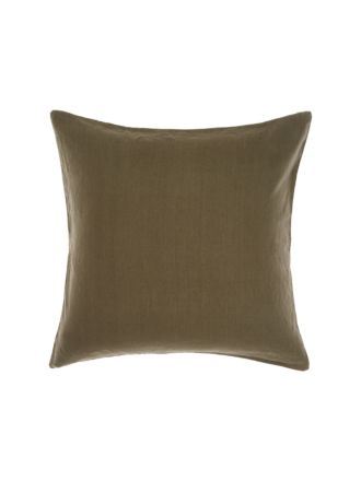 Nimes Olive Linen European Pillowcase