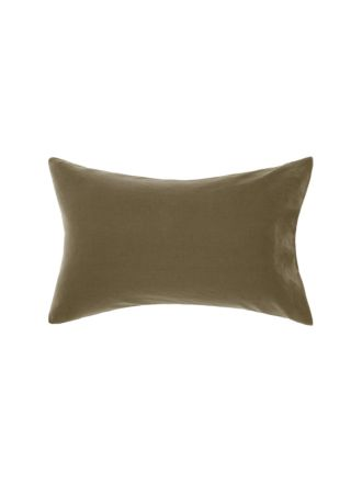 Nimes Olive Linen Standard Pillowcase