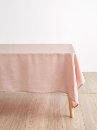 Nimes Pink Linen Tablecloth