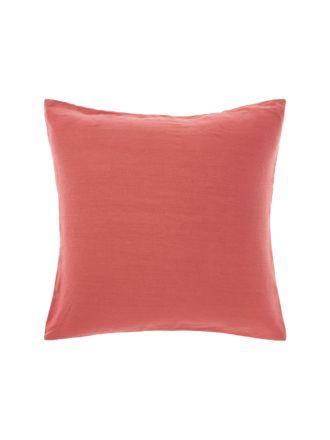 Nimes Sangria Linen European Pillowcase