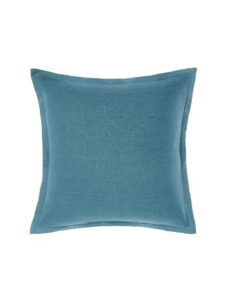 Nimes Tailored Linen Teal Cushion 48x48cm