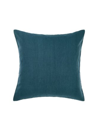 Nimes Teal Linen European Pillowcase