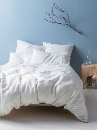 Nimes White Linen Quilt Cover Set