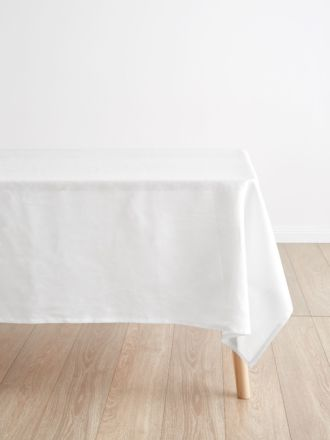Nimes White Linen Tablecloth