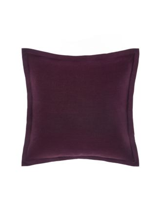 Nimes Wine Tailored Linen Cushion 48x48cm