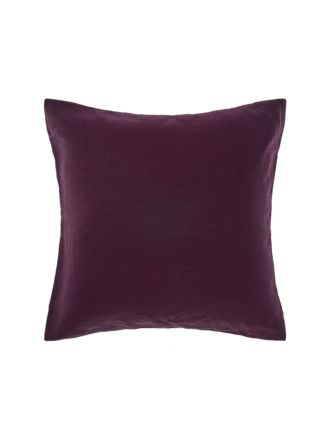 Nimes Wine Linen European Pillowcase