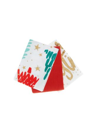 O'Christmas Tree 3-Piece Tea Towel Set