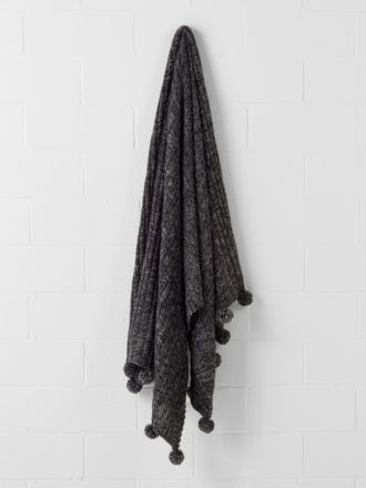 Oni Black Marle Throw