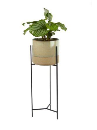 Paco Green Planter Pot & Stand 45cm