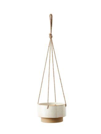 Paco White Hanging Planter 21.5cm