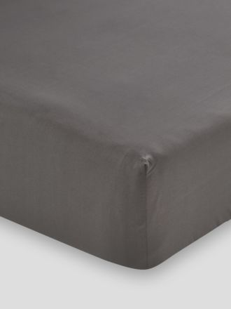 Remo Charcoal Fitted Sheet 50cm