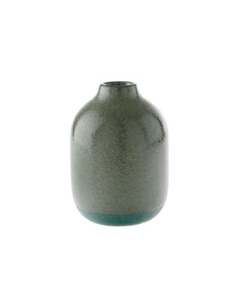 Salma Bottle Green Vase 17cm