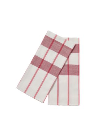 Smith Red 2-Piece Tea Towel Set