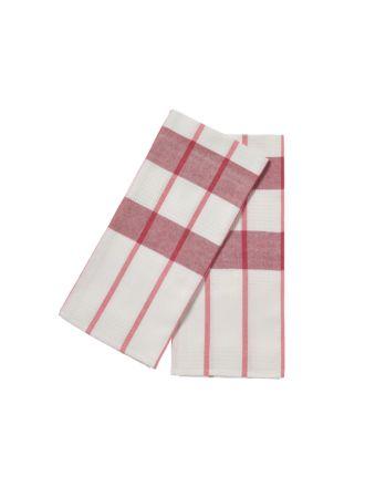 Smith Red 2-Piece Tea Towel Set