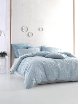 Farley Blue Quilt Cover Set