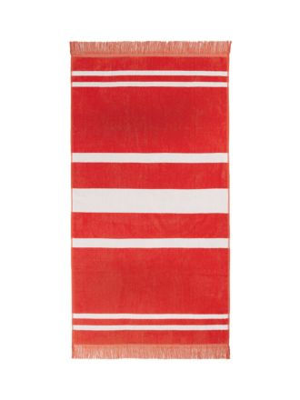 Sonny Red Beach Towel