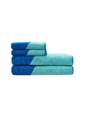 Splice Aqua Towel Collection