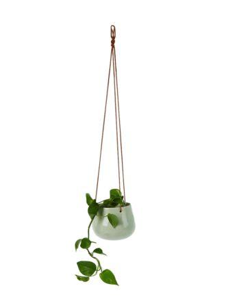 Tasha Mint Hanging Planter 16cm