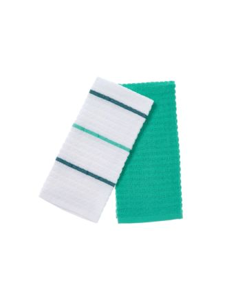 Tobi Green 2-Piece Tea Towel Set