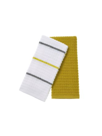 Tobi Yellow 2-Piece Tea Towel Set