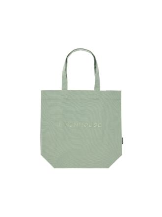 Linen House Mint Tote Bag
