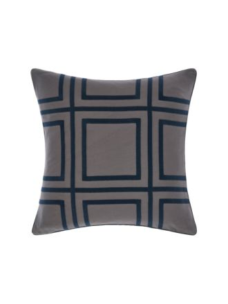 Treillage Navy Cushion 50x50cm