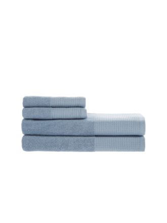 Waffle Blue Towel Collection