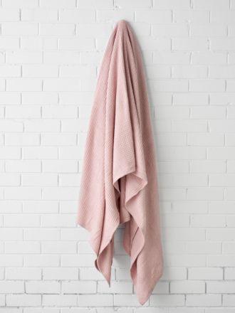 Waffle Blush Blanket