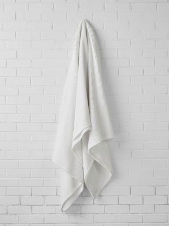 Waffle White Blanket