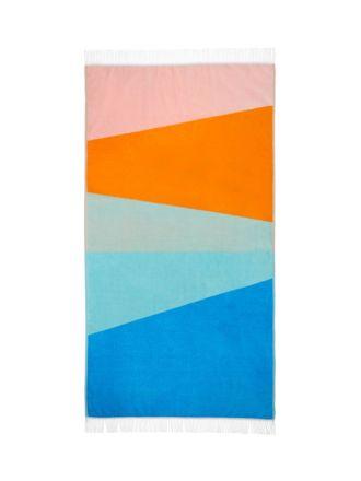 Paz Orange Beach Towel