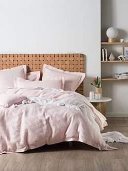 Deluxe Waffle Petal Quilt Cover Set