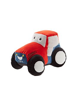 Little Red Tractor Novelty Cushion