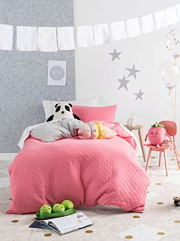 Obi Bubblegum Quilt Cover Set