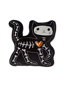 Skellie Kitty Novelty Cushion