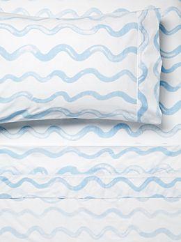 Squiggle Blue Sheet Set