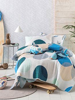Sundae Blue Coverlet Set