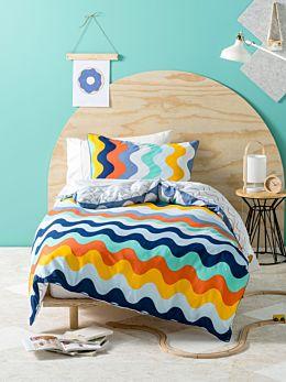 Wavelength Blue Quilt Cover Set
