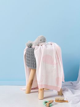 Whale Of A Time Pink Throw