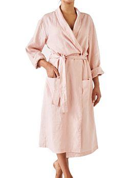Nimes Rose Linen Robe