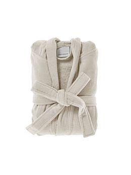 Cotton Velour Natural Robe