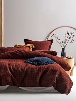 Deluxe Waffle Brick Quilt Cover Set