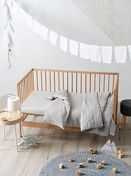 Maddison Grey Cot Quilt Cover