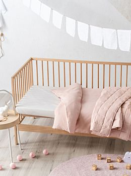 Maddison Pink Cot Quilt Cover