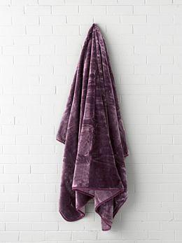 Mink Aubergine Blanket