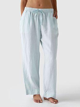 Nimes Blue Linen Pants