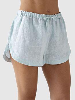 Nimes Blue Linen Shorts
