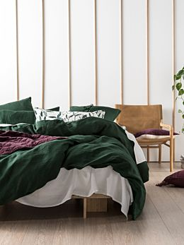 Nimes Ivy Linen Quilt Cover Set