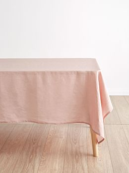 Nimes Rose Linen Tablecloth