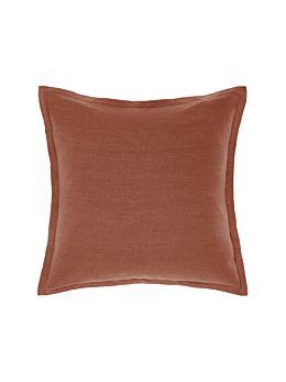 Nimes Rust Linen Tailored Cushion 48x48cm