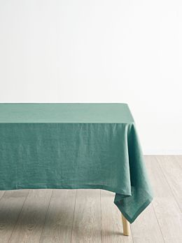 Nimes Sea Foam Linen Tablecloth